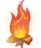 Flama ardente do incêndio no vetor Foto de Stock Royalty Free