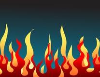 Flama ardente vermelha ilustração stock