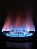 Flama azul Fotos de Stock Royalty Free