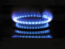 Flama azul Imagens de Stock