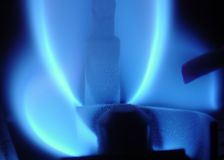 Flama azul Fotos de Stock