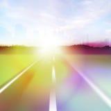 Flama colorida de la carretera stock de ilustración
