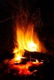 Flama com faíscas Fotografia de Stock Royalty Free