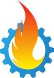 Flama da engrenagem Foto de Stock