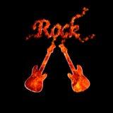 Flama da rocha. ilustração do vetor