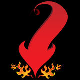 Flama da seta da cauda do diabo Foto de Stock Royalty Free