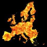 Flama de Europa ilustração stock