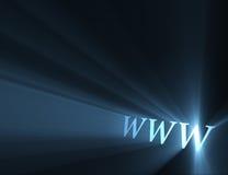 Flama de la luz de WWW del World Wide Web Imagen de archivo