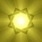 Flama de la luz del sol del símbolo de la estrella de ocho puntas Imagen de archivo libre de regalías