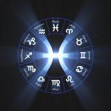 Flama de Piscis del símbolo de la astrología ilustración del vector