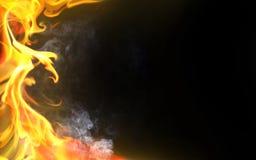 Flama decorativa ilustração royalty free