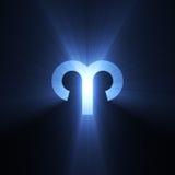 Flama del aries del símbolo de la astrología stock de ilustración