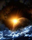 Flama del espacio Foto de archivo