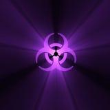 Flama del símbolo amonestador de Biohazard stock de ilustración
