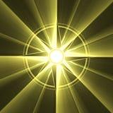 Flama del sol del símbolo de la estrella del compás stock de ilustración