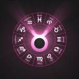 Flama del tauro del símbolo de la astrología ilustración del vector