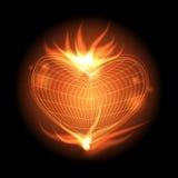 Flama do coração ilustração royalty free