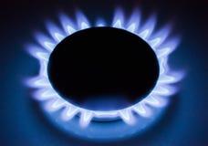 Flama do gás Fotos de Stock Royalty Free