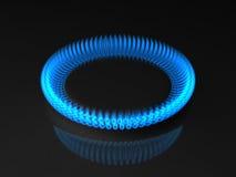 Flama do gás Fotografia de Stock Royalty Free