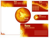 Flama do incêndio ilustração do vetor