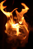 Flama do incêndio Foto de Stock Royalty Free