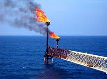 Flama en el mar Imagen de archivo libre de regalías