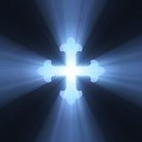 Flama ligera azul cruzada gótica stock de ilustración