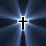 Flama ligera azul de la cruz doble ilustración del vector