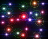 Flama ligera coloreada multi de la lente Fotografía de archivo libre de regalías