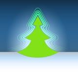 Flama moderna del árbol del verde de la Navidad de la dimensión de una variable stock de ilustración