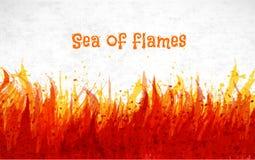 Flama no fundo branco Lugar para seu texto Ilustração do vetor do fogo ilustração royalty free