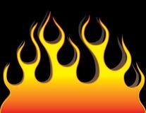 Flama no fundo preto ilustração royalty free
