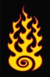 Flama no preto ilustração royalty free