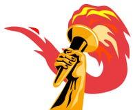 Flama olímpica ilustração stock
