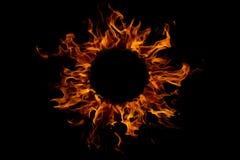 flama redonda do incêndio, isolada imagem de stock