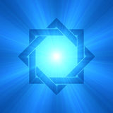 Flama señalada ocho de la luz del símbolo de la estrella imagenes de archivo