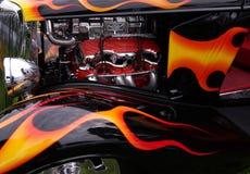 Flama sobre Foto de Stock Royalty Free