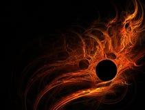 Flama solar anaranjada roja Imagenes de archivo