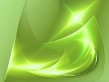 Flama verde ilustração stock