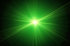 Flama verde de la lente libre illustration