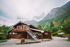 Flama wioska W Norwegia Drewniany pensjonat Obrazy Royalty Free