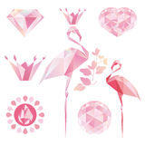 Flamant de Crystal Pink illustration stock