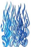 Flamas azuis ilustração royalty free
