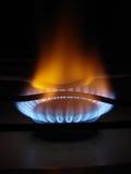 Flamas azuis do gás Foto de Stock Royalty Free
