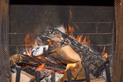 Flamas do incêndio Fotos de Stock Royalty Free