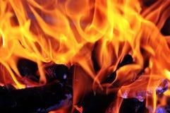 Flamas do incêndio Fotografia de Stock Royalty Free