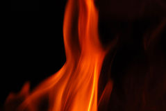 Flamas do incêndio Foto de Stock Royalty Free