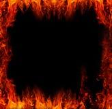 Flamas do incêndio imagem de stock