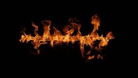 Flamas do incêndio no fundo preto Imagem de Stock Royalty Free