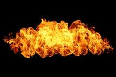 Flamas do incêndio no preto Fotografia de Stock